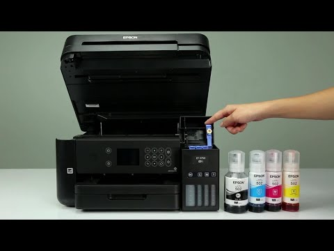 Epson Expression ET-3700 and ET-3750: How to Fill the Ink Tanks