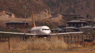Difficult landings and take-offs from Eastern Himalayan Paro airport
