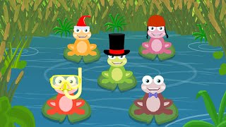 Five Little Frogs | Kindergarten Nursery Rhymes For Toddlers | Fun Videos For Children by Kids Tv