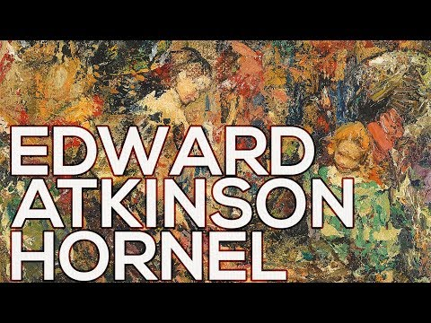 Edward Atkinson Hornel: A collection of 205 paintings (HD)