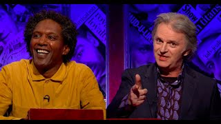 Have I Got a Bit More News for You S61 E6. Romesh Ranganathan, Jo Brand, Lemn Sissay. May 2021.