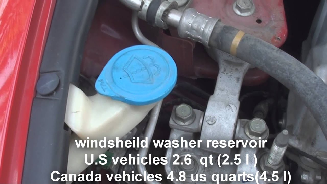 Where Is The Windsheild Washer Fluid Honda Civic 2006 2011