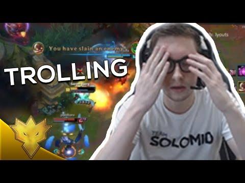 TSM Bjergsen - TROLLING ADC & JUNGLER - League of Legends Funny Stream Moments