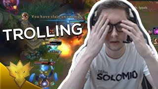 TSM Bjergsen - TROLLING ADC & JUNGLER - League of Legends Funny Stream Moments