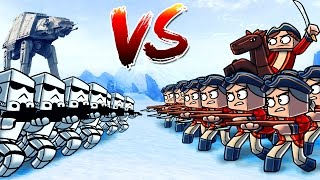 Minecraft | 500 British Soldiers vs 500 Storm Troopers! (Star Wars Massive Mob Battles)