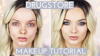 Never buy high end makeup? Here's a full face of drugstore for you!...