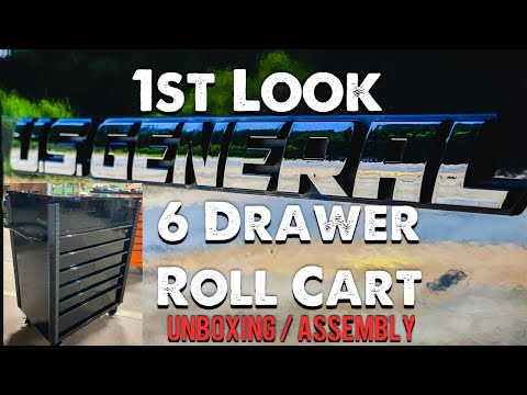 Harbor Freight 6 Drawer Roll Cart And Assembly Instructions. U.S. General Cart Just Killed Snap On!