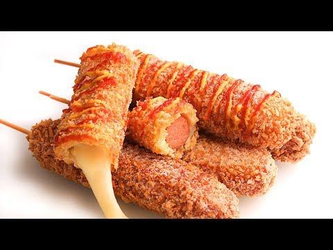 Mozzarella Corn Dogs | Banderillas de Salchicha Coreanas con Queso