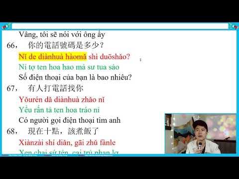 Bài 14 [4] : Các câu tiếng Trung đơn giản dễ học | TIENG TRUNG GIUP VIEC