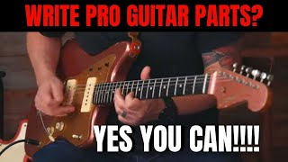 How To Write Killer Guitar Parts For A Laid Back Tune With Session Guitarist Justin Ostrander
