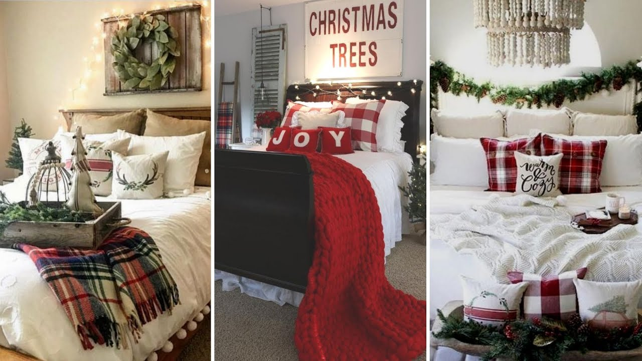 Diy Farmhouse Style Christmas Guest Bedroom Decor Ideas