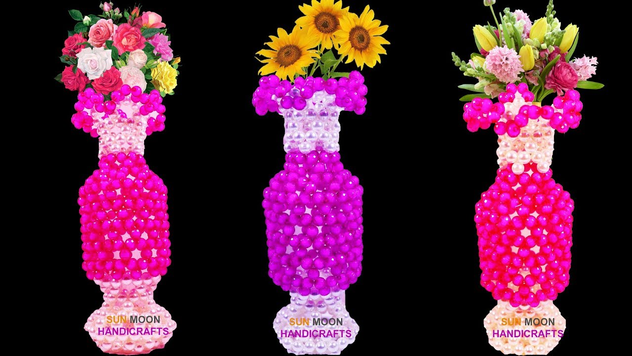 Download পুতির আনারস ফুলদানি/ How to make Beaded flower vase/beaded pineapple flower vase/beaded flower vase
