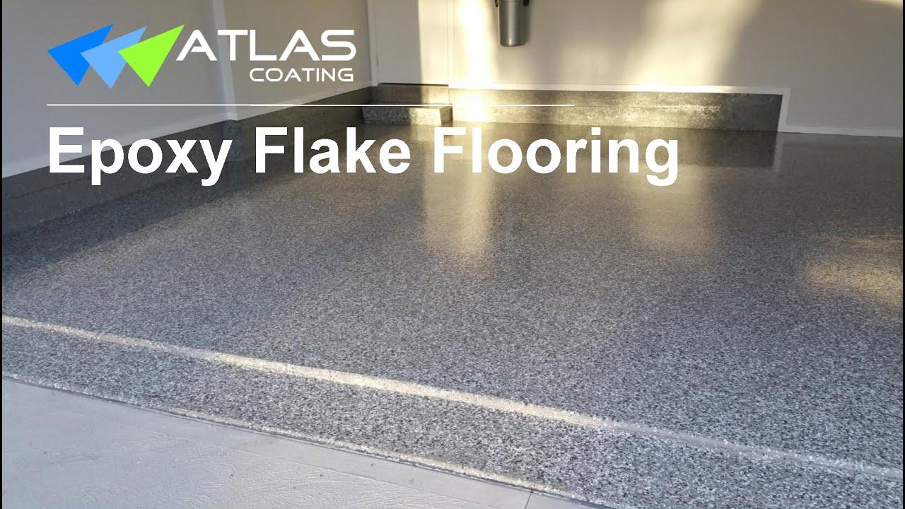 How We Apply Epoxy Flake Floor Coating on Garage Floor