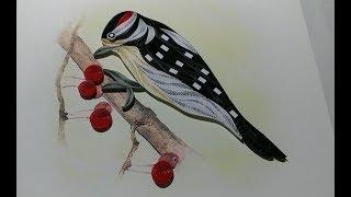 Quilling Bird \ Making Beautiful Love Birds - Paper Quilling Art