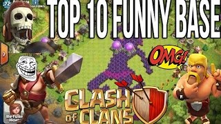 Clash Of Clan Top 10 Funny Base | COC Funny Base