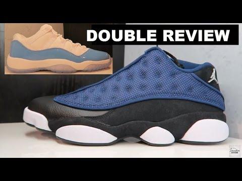 0d3bb7a719e Air Jordan 13 Brave Blue Low 2017 Retro Sneaker Review - YouTube
