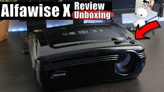 Alfawise X REVIEW: Best Projector Under $200? (Android, 4K support, 3200 Lumens)