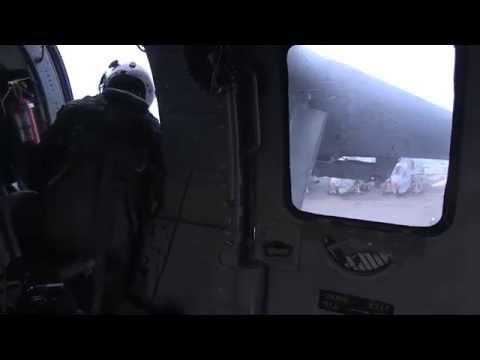 Aerial video showing U.S. Navy SAR efforts around the sunken ferry Sewol site