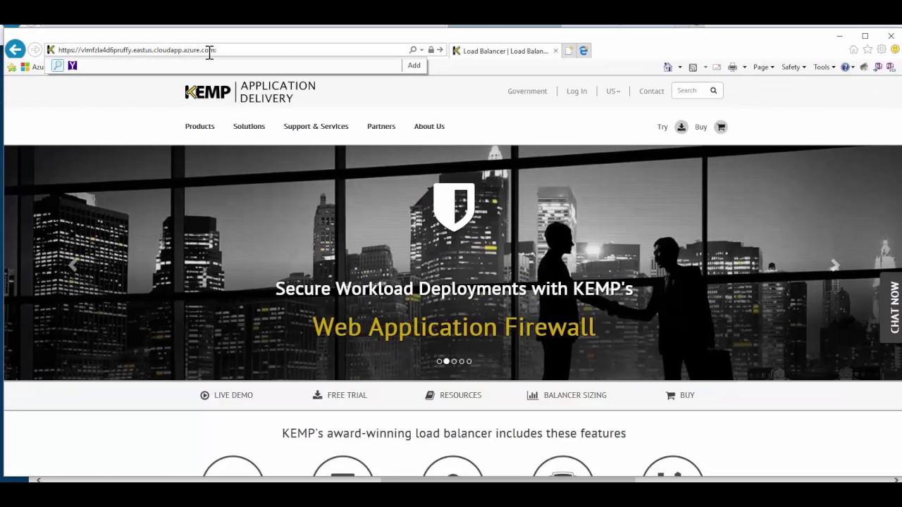Setup and Deploy a Kemp Load Balancer in Microsoft Azure Cloud