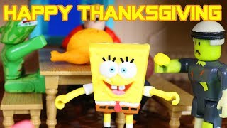 Incredibles 2 Superhero Toys & Imaginext SpongeBob Have Thanksgiving With Roblox Zombie