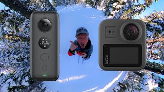 GoPro Max VS Insta360 One X SIDE BY SIDE! (#1) - Footage Comparison