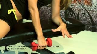 Alzate con manubrio a braccio dritto steso sul fianco - Terry Fitness