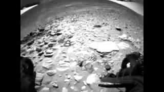 火星探査機スピリット地表探査(リアカメラビュー)/Mars explorer spirit surface exploration (rear camera view)