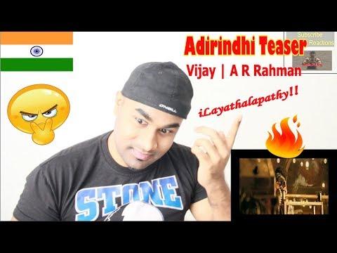 ILAYATHALAPATHY VIJAY'S  ADIRINDHI - Official Telugu Trailer | Vijay | A R Rahman | Atlee | REACTION