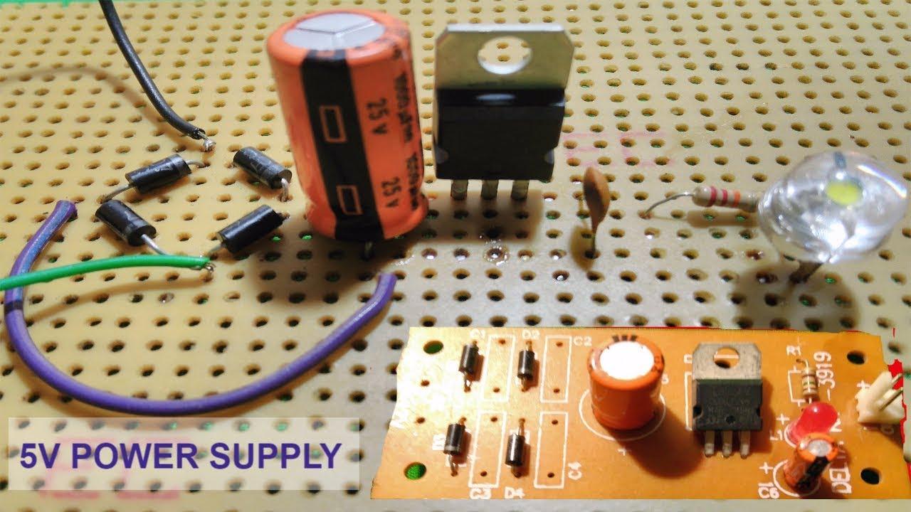 5v Power Supply Using 7805