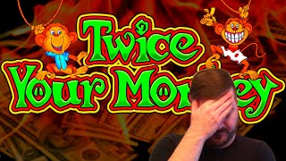 My First Time Playing TWICE YOUR MONKEY At Diamond Jo Casino!