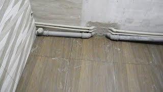 Секреты укладки плитки на пол в ванной комнате ч.2