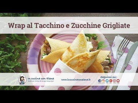 In cucina con elena videolezione di cucina wrap di legumi con tacchino e zucchine grigliate - In cucina con elena ...