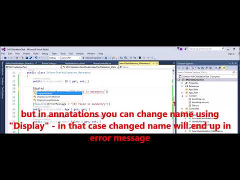 MVC  - How to display Proper name in error message