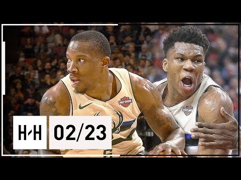 Giannis Antetokounmpo & Eric Bledsoe Full Highlights Bucks vs Raptors (2018.02.23) - CLUTCH!
