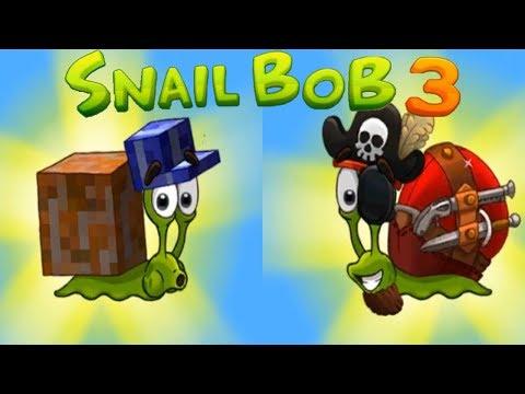 Улитка Боб 3 (Snail Bob 3) прохождение #5 (уровни 21-25) Кубический и Пиратский Костюмы!