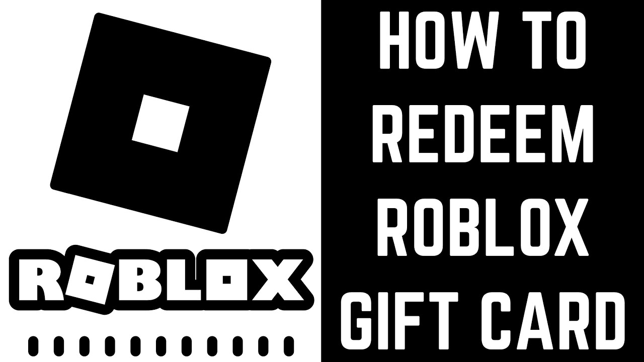 How to Redeem Roblox Gift Card YouTube
