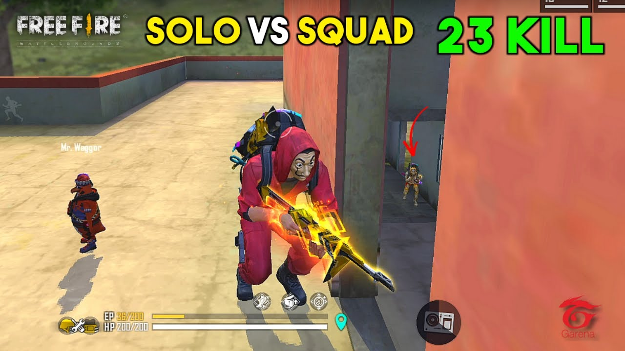 OMG! 23 Kill Solo vs Squad OverPower Ajjubhai Gameplay - Garena Free Fire