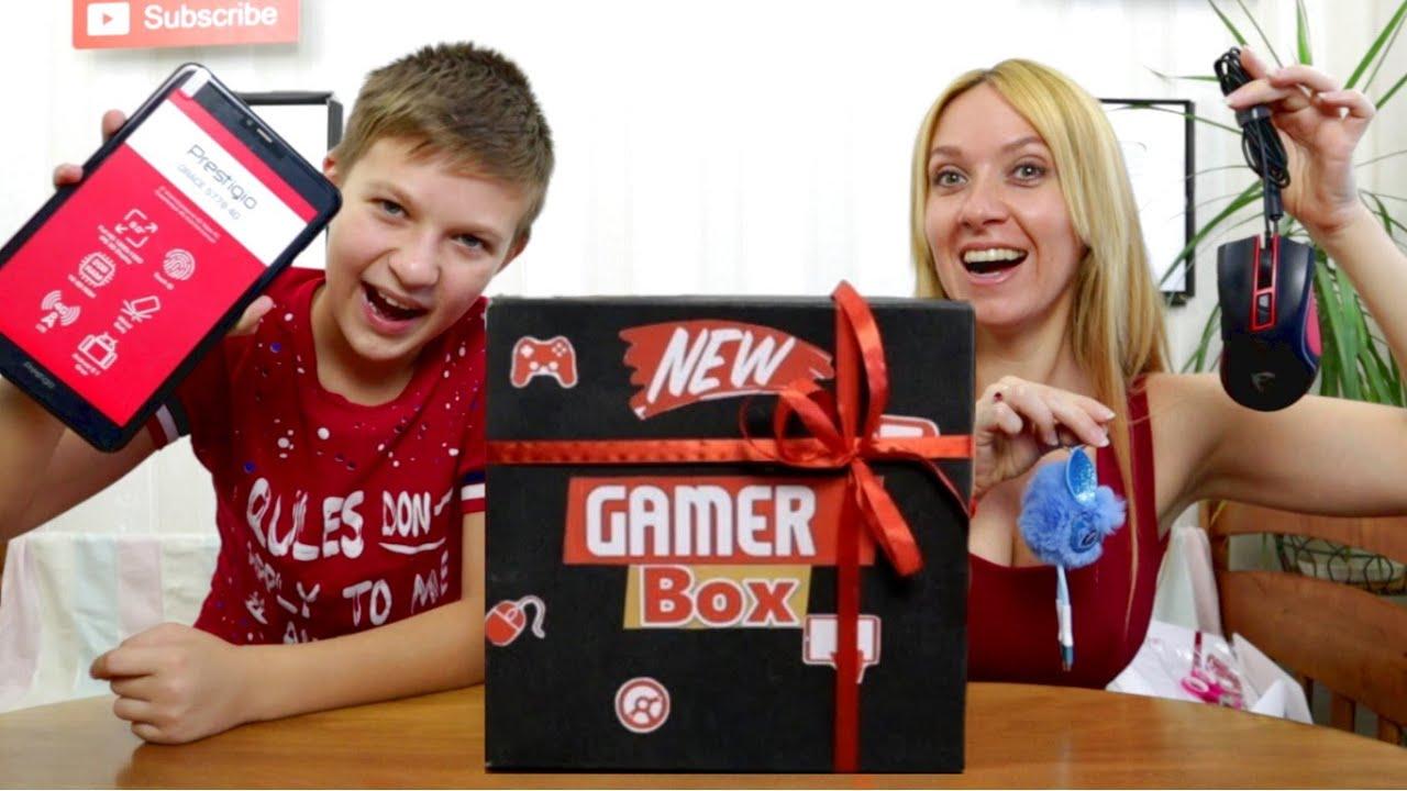СТРИМ! Челлендж Gamer Box! Неужели ПЛАНШЕТ? Кто вытянет подарки круче? Тима против мамы!