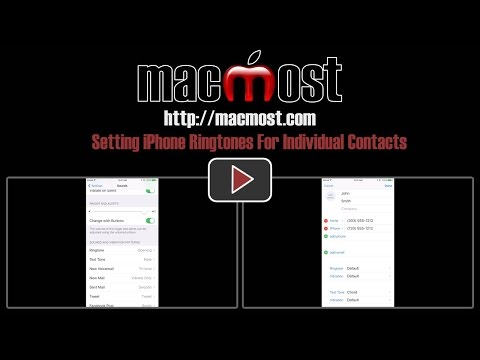 Setting iPhone Ringtones For Individual Contacts (#1178)