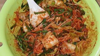 Yummy Kimchi//How to make round cabbage kimchi/cooking kimchi recipes