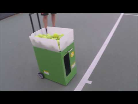 Trying out the Spinshot Player Tennis Ball Machine