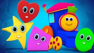 Bob The Train | shapes rolling song | original song | the shapes song | 3d rhymes | kids tv