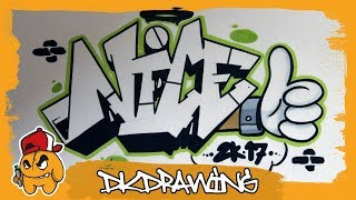 How to draw graffiti letters nice step by step (Graffiti Tutorial)