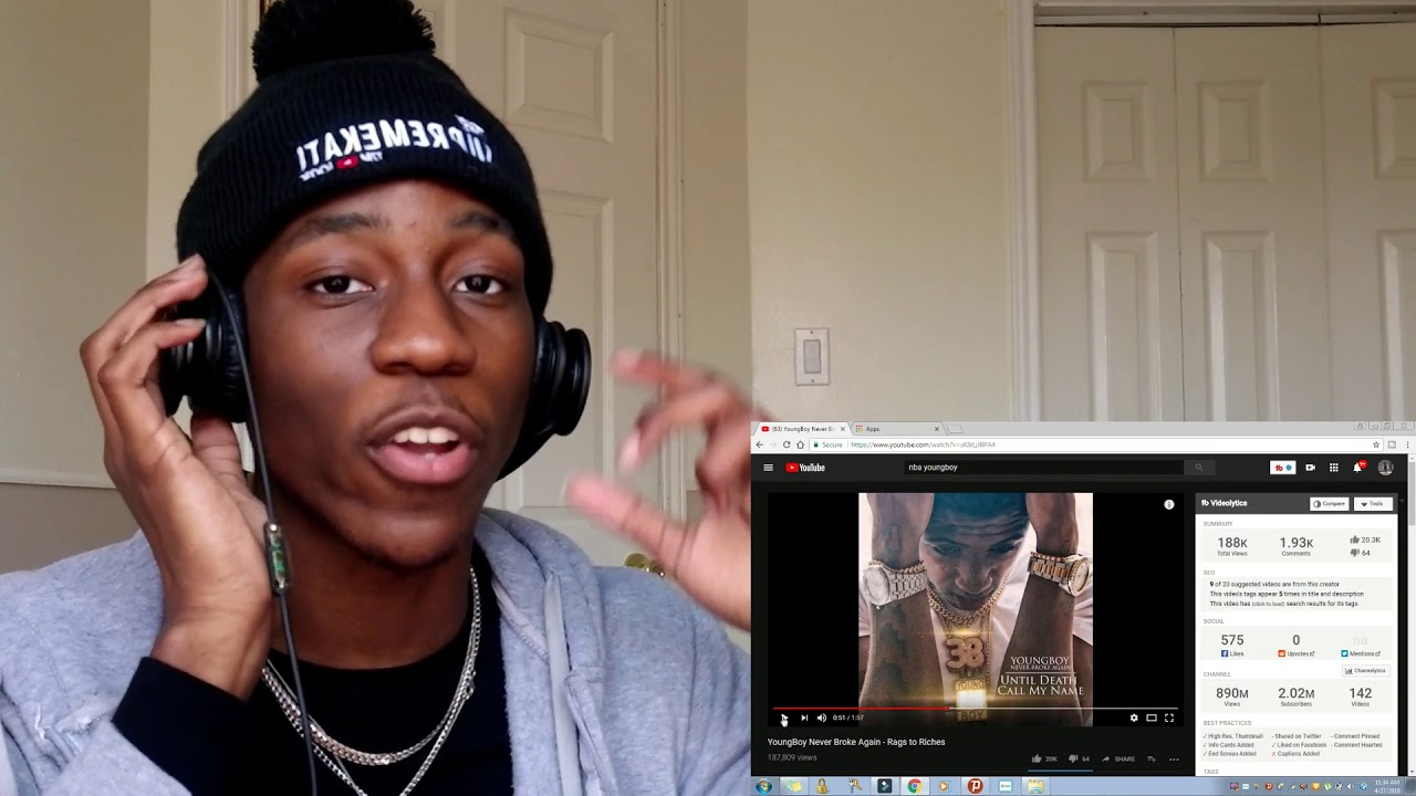 THE WAIT IS OVER!!...NBA YOUNGBOY RAGS TO RICHES REACTION VIDEO!!