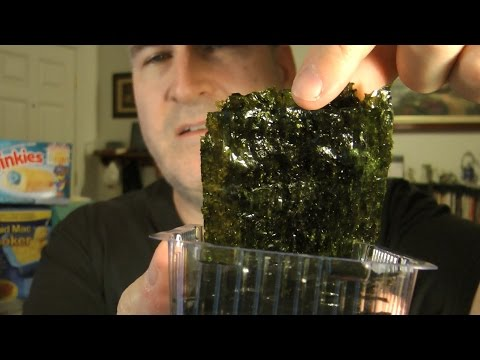 Ocean Snack Dry Roasted Seaweed REVIEW (Eating The Dollar Stores, EP #20)