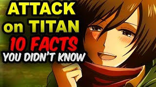 10 Attack on Titan Facts You Didn