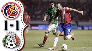 Costa Rica vs Mexico 1-1│Resumen Completo HD│Eliminatorias Rusia 2018.