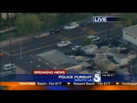 Los Angeles Police Chase Reckless Driver Pursued Through South L.A