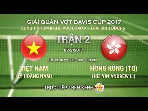 FULL | LÝ HOÀNG NAM (VN) - HEI YIN ANDREW LI (HK) (3-0) | TRẬN 2 ĐƠN NAM DAVIS CUP NHÓM II KV CHÂU Á