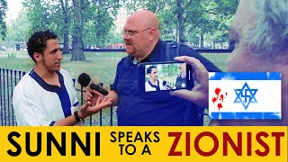 Shamsi Speaking to Zionist Jew Nehemia Gordon at Speakers Corner